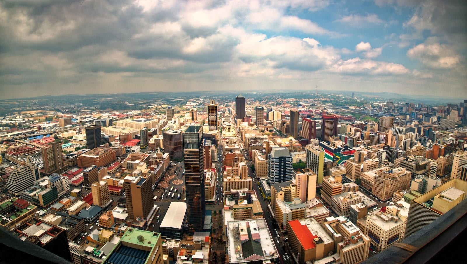 Johannesburg From Carlton Centre, South Africa