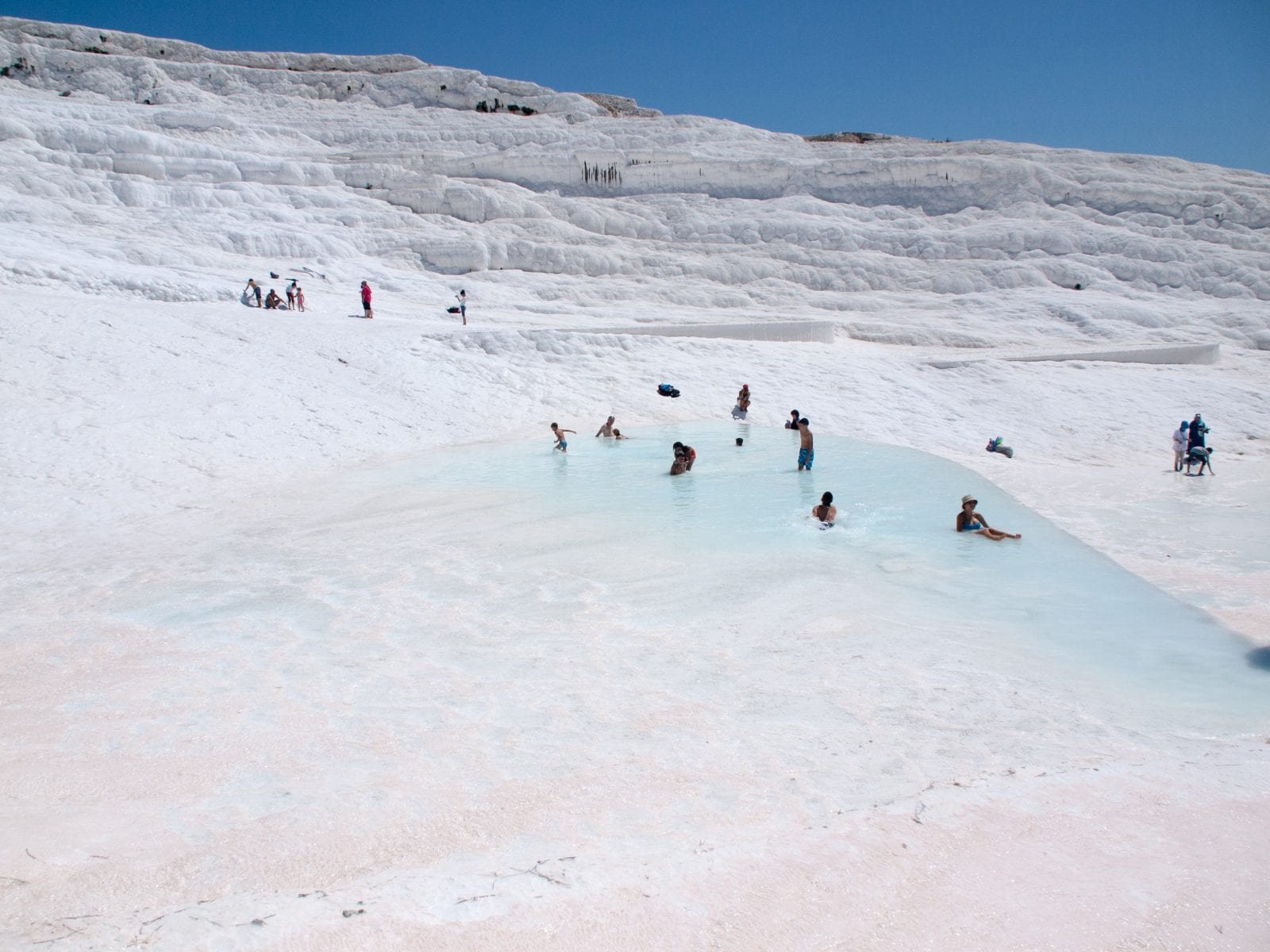 On Pamukkale mountain, Turkey