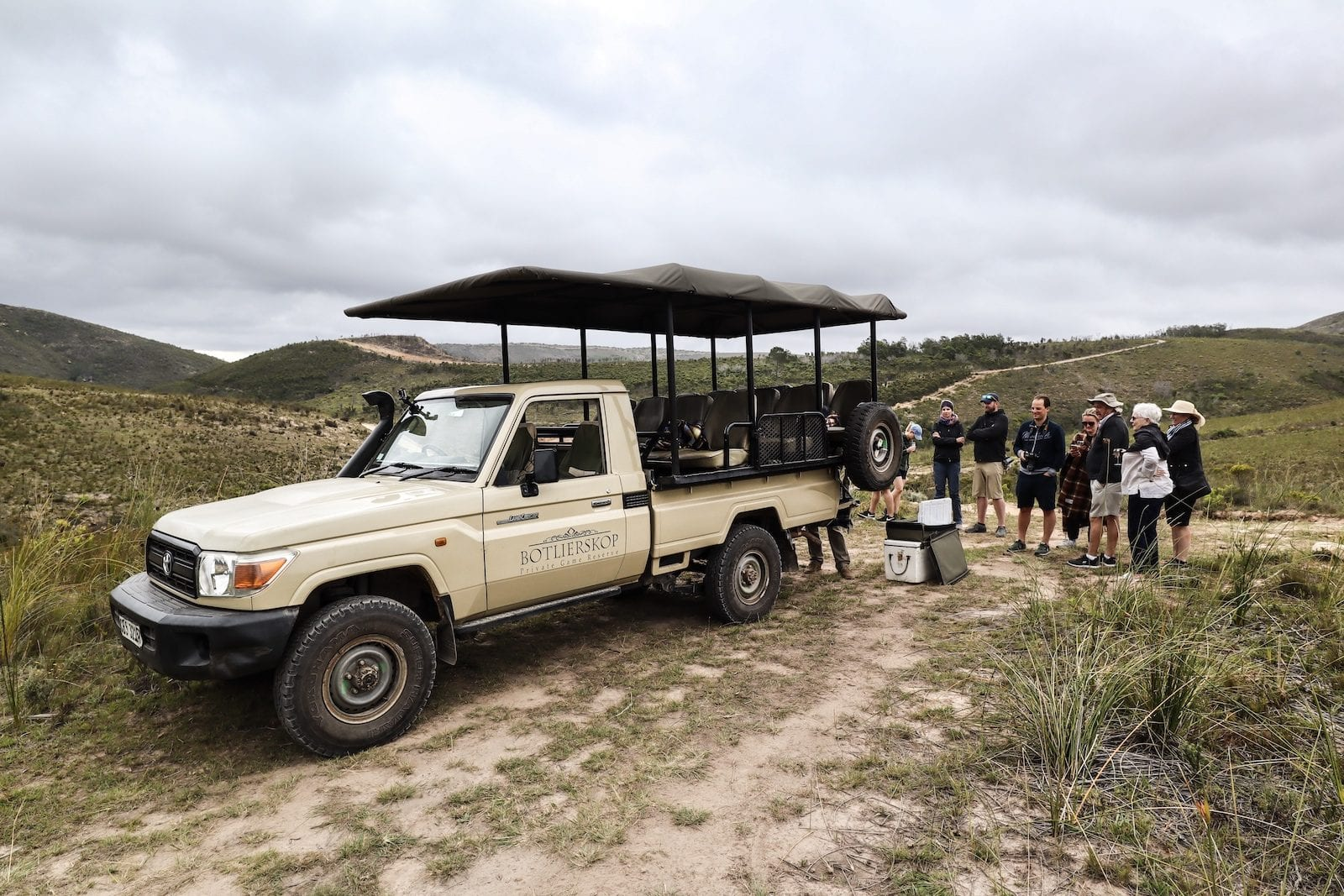 Our safari team at Botlierskop Private Game Reserve near Cape Town, South Africa