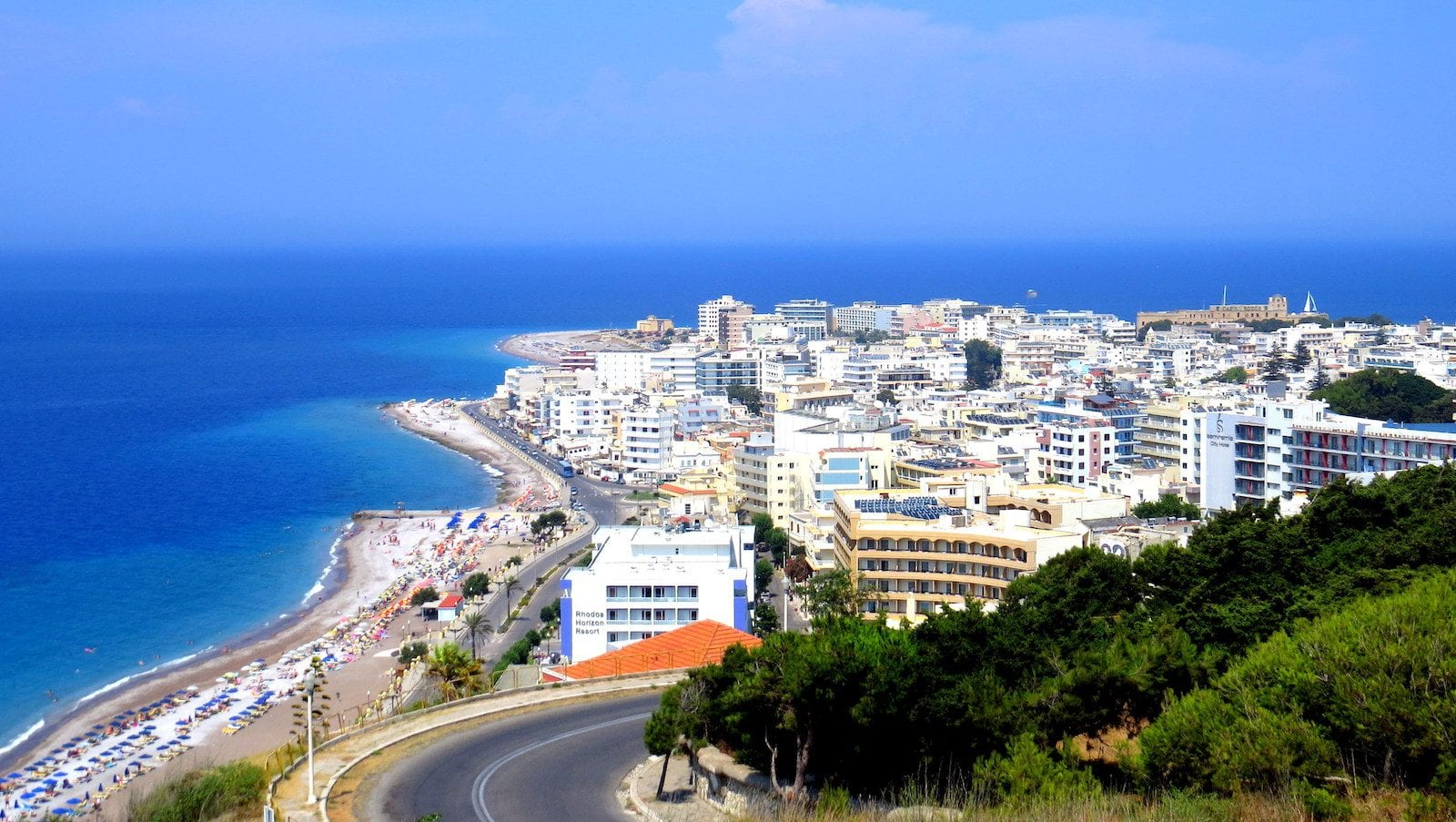 The New Town of Rhodes, Greece.