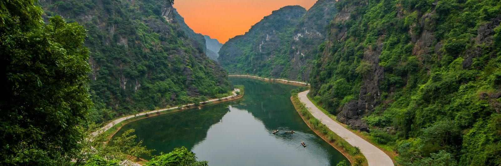 Am Tien Valley in Ninh Binh, Vietnam