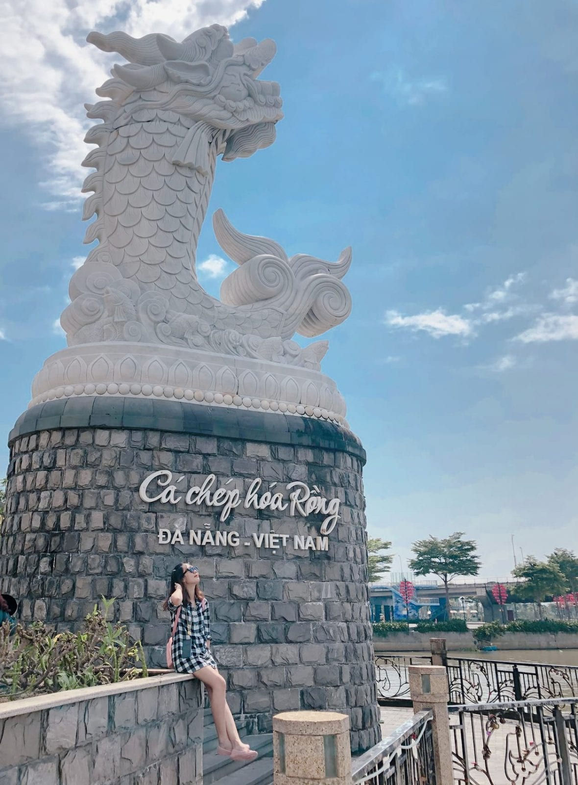 Dragon carp in Da Nang, Vietnam