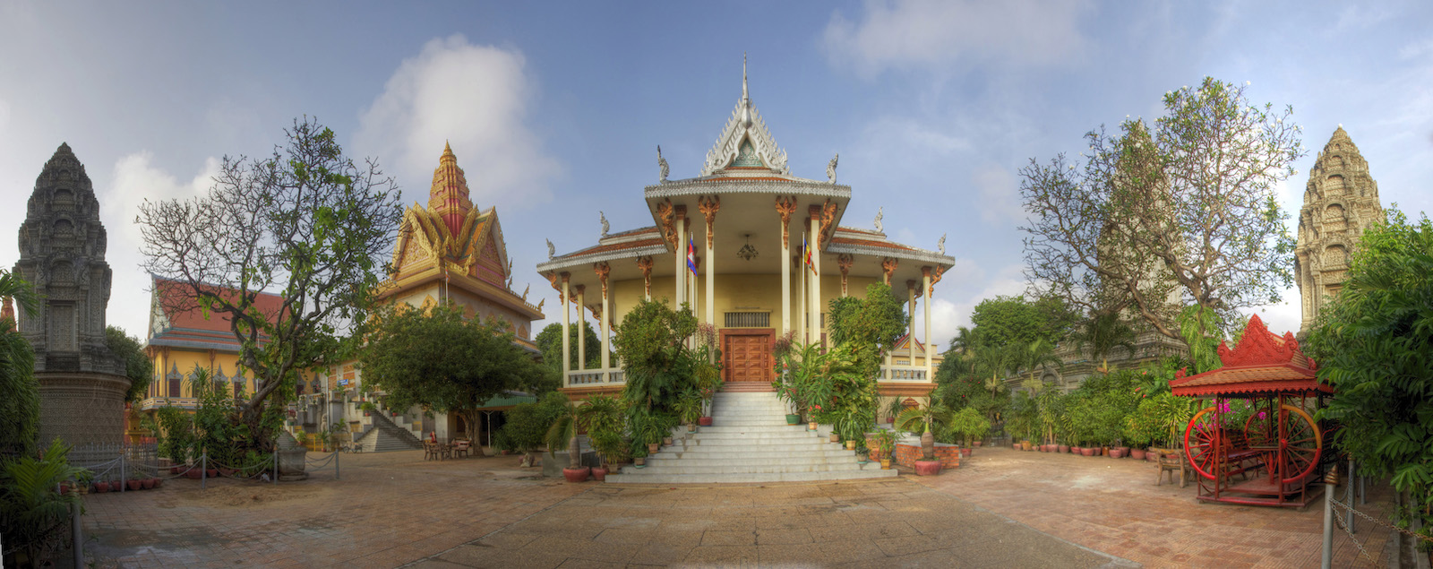 Wide view of temples in Cambodian capital