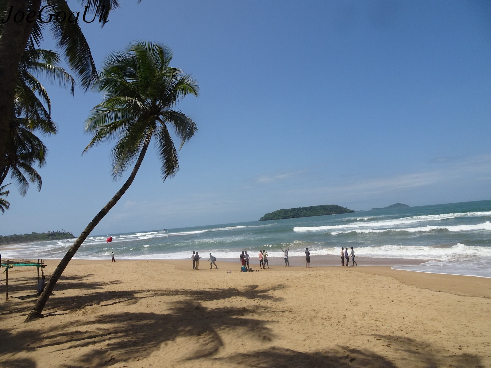 Baina beach in Goa, India
