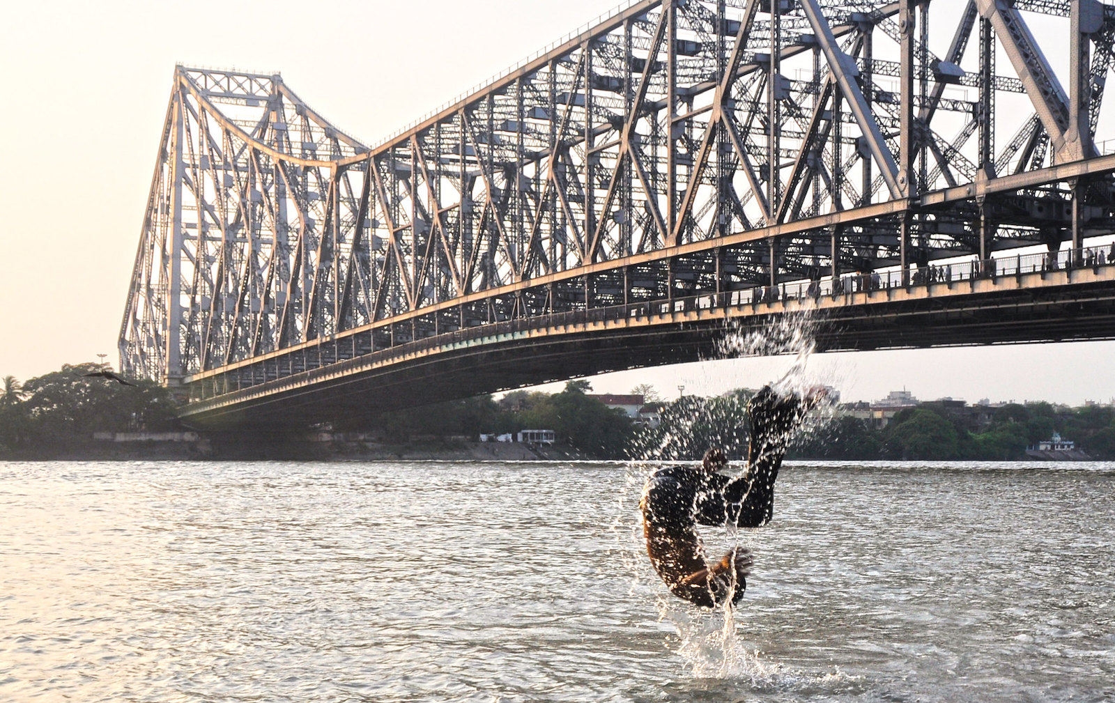 Humanfish at Howrah Bridge in India