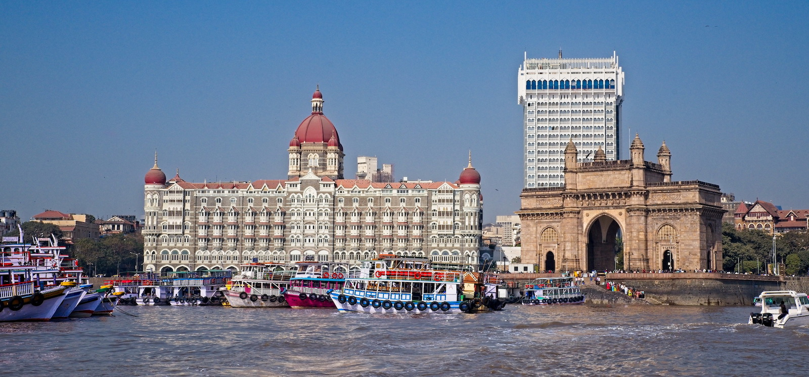 Taj Mahal Palace Hotel and The Gateway to India