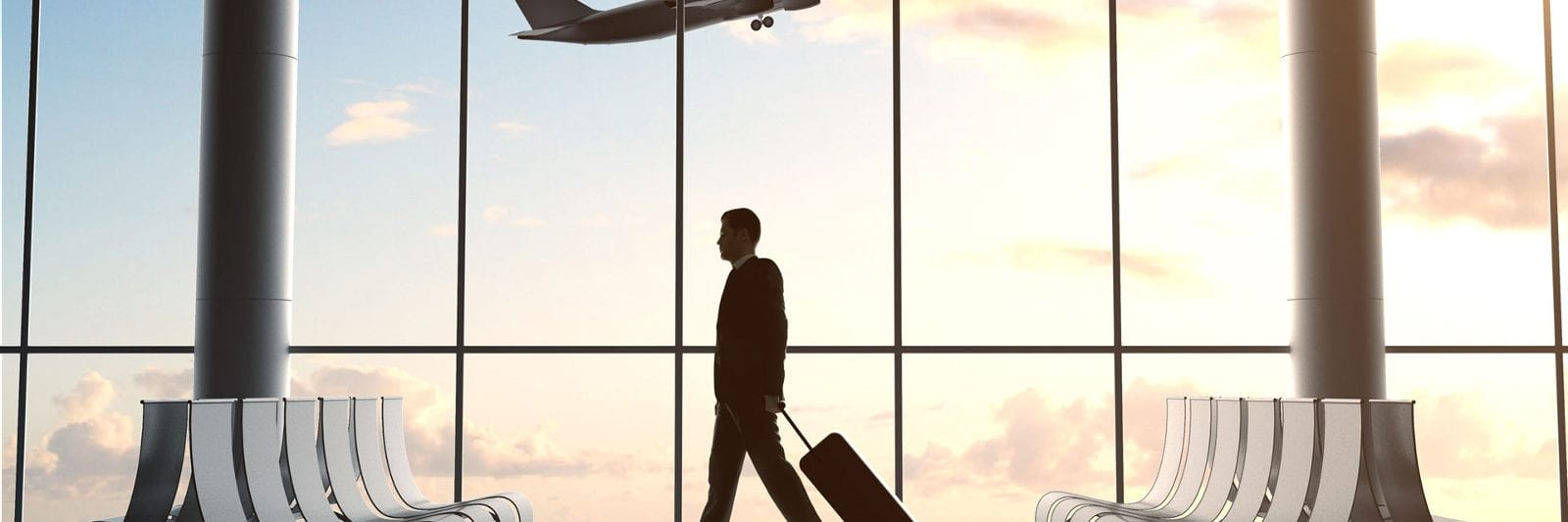 International Airport Travel Checklist Plane Luggage