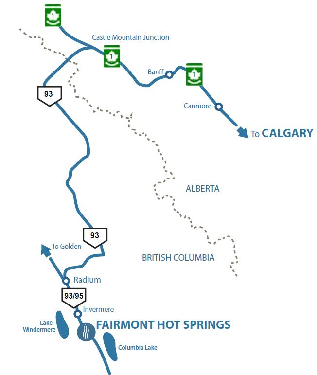 Fairmont Hot Springs Map