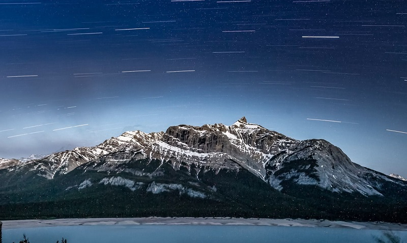 Abraham Lake Night Sky