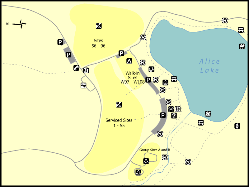 Alice Lake Map