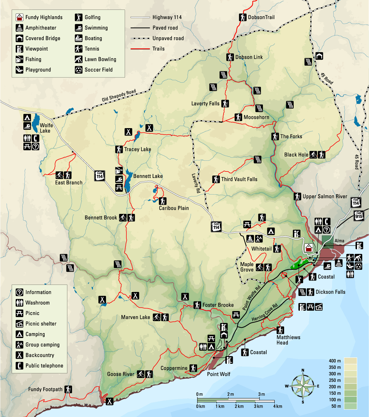 Fundy National Park - Map