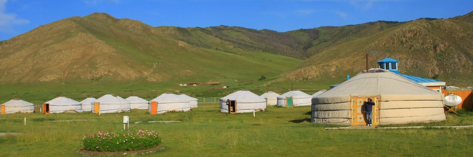 Ger camp in Mongolia
