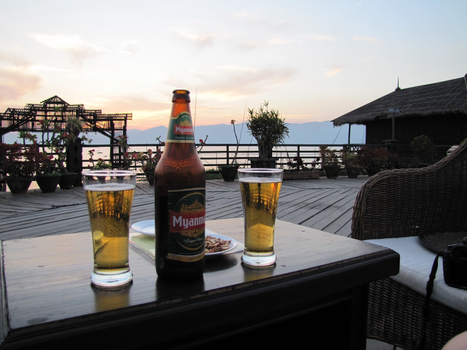 Inle Lake Sunset Myanmar Beer