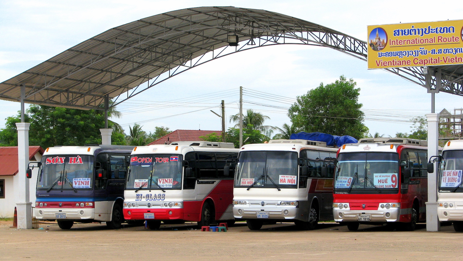 Laos, Vientiane Southern bus station