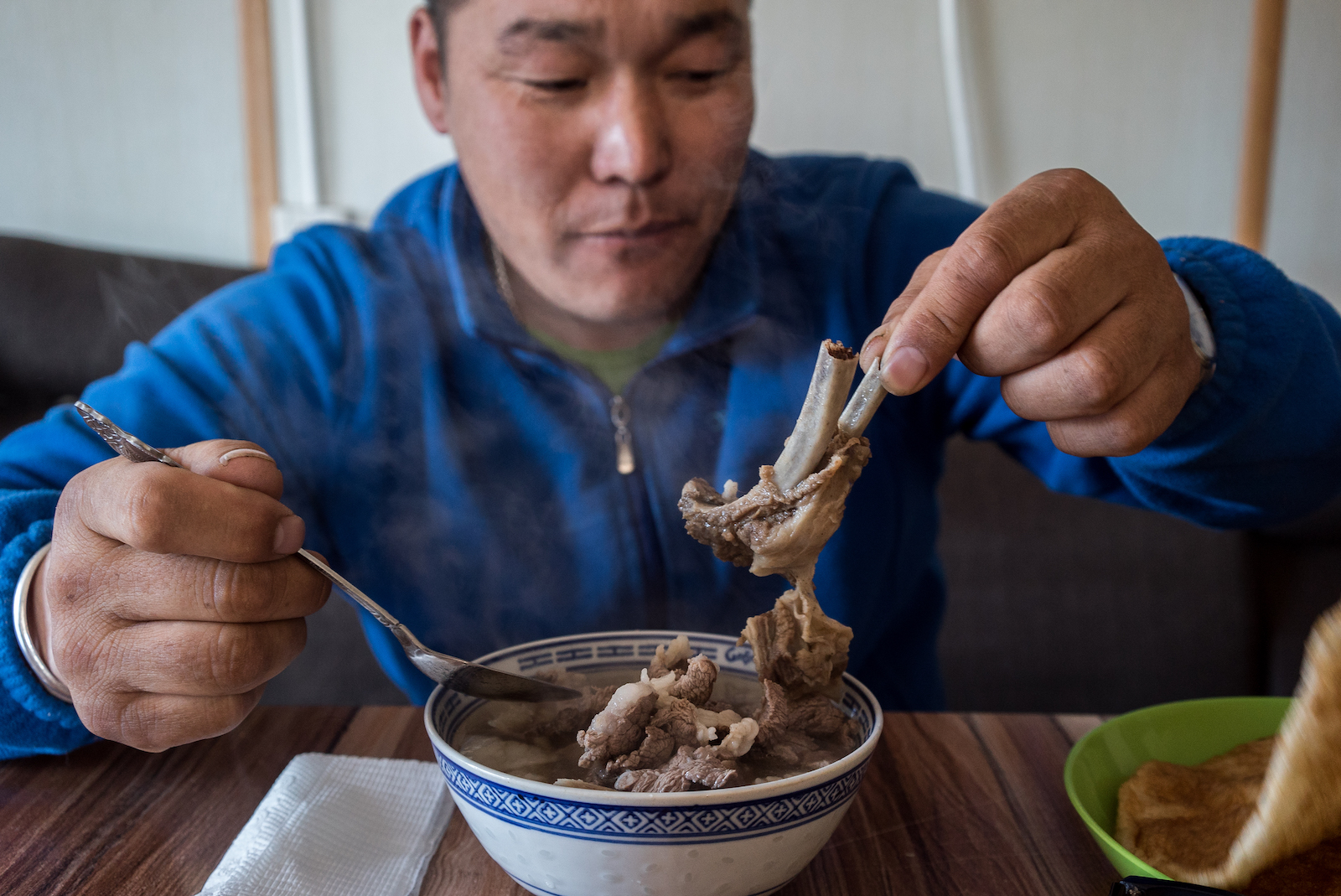 Mutton soup in Mongolia