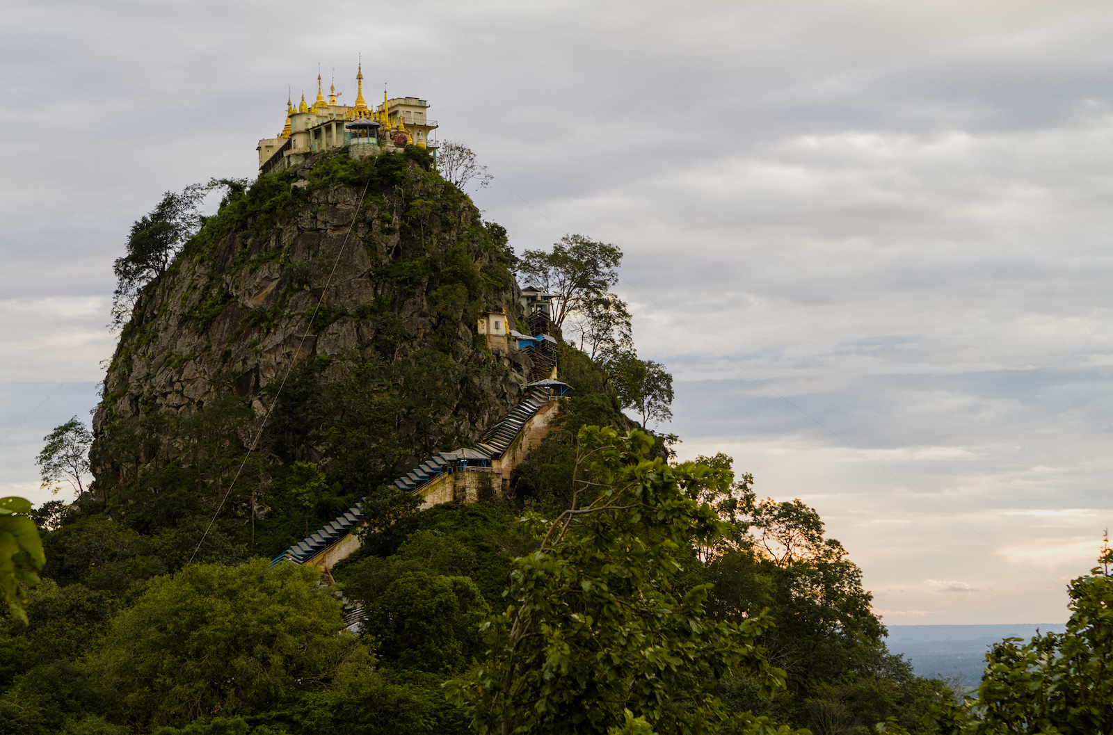 On Top of Mount Popa, Myanmar