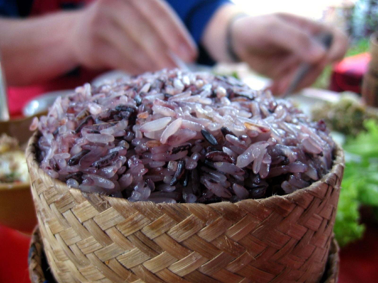 Purple sticky rice, Laos