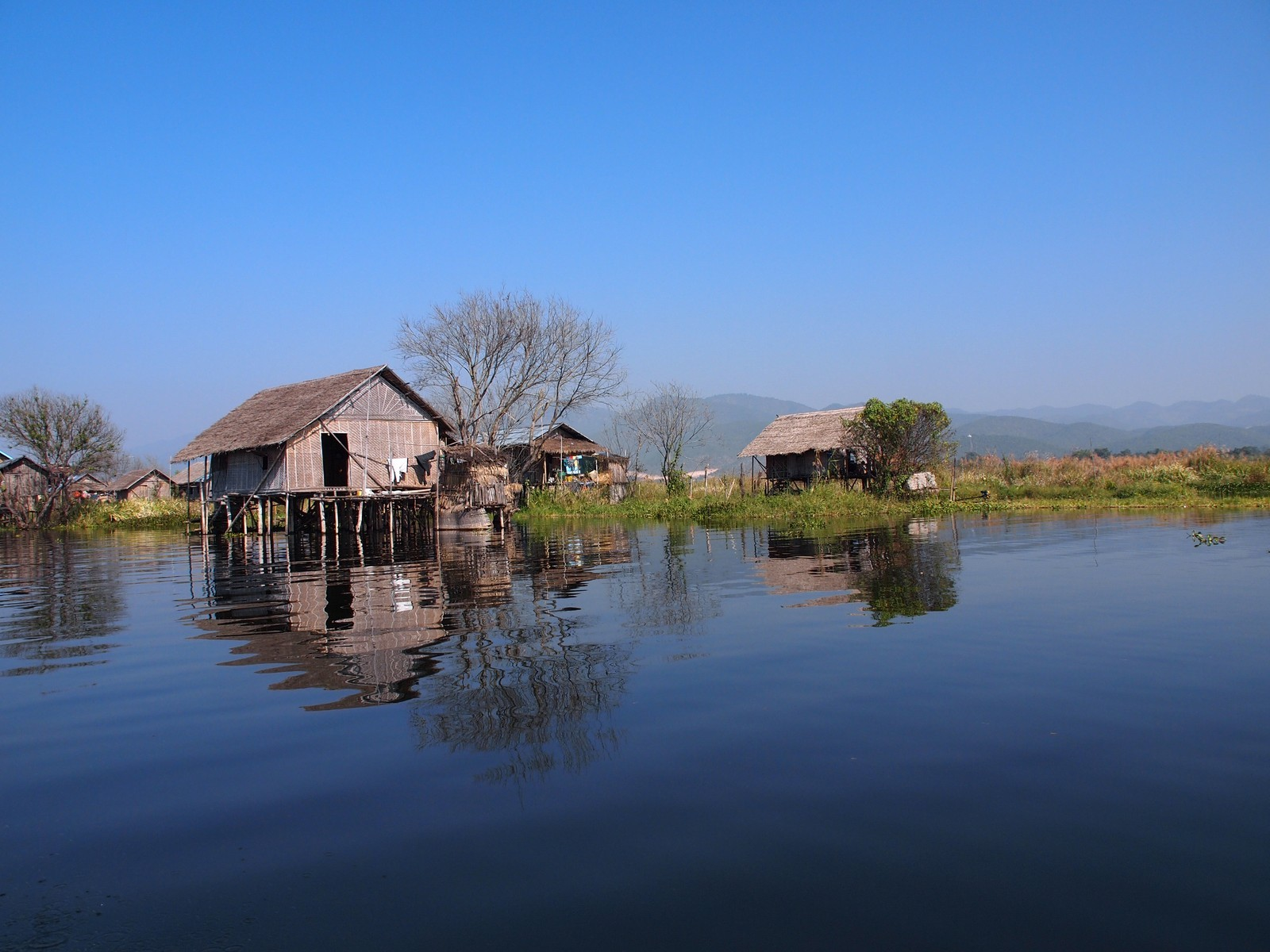 Stilted houses of Inle Lake, Myanmar