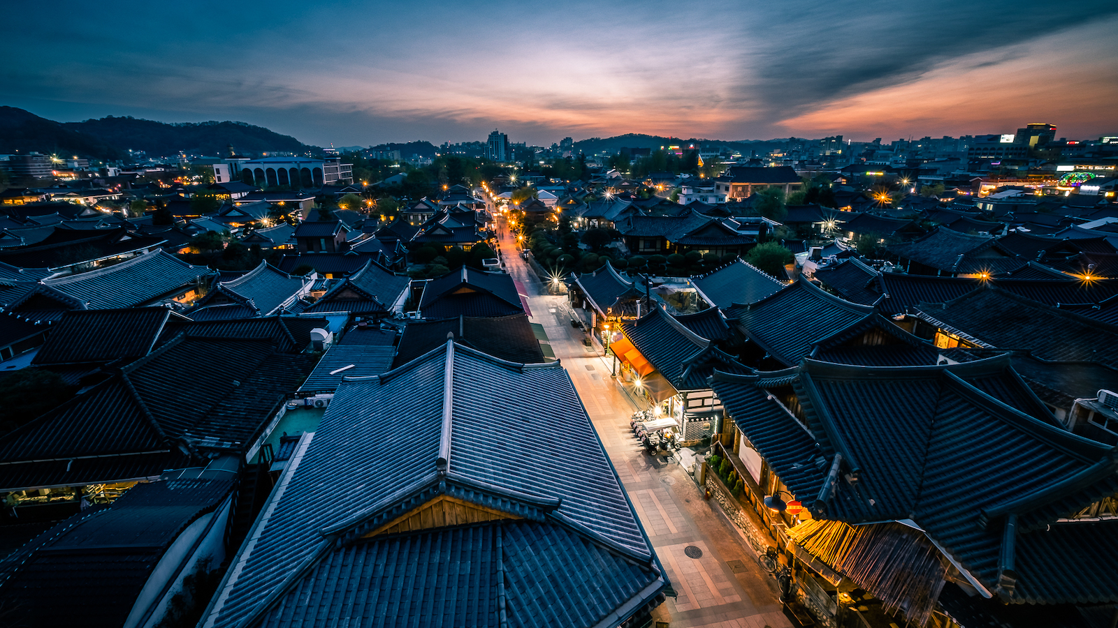 Sunset in Jeonju - South Korea