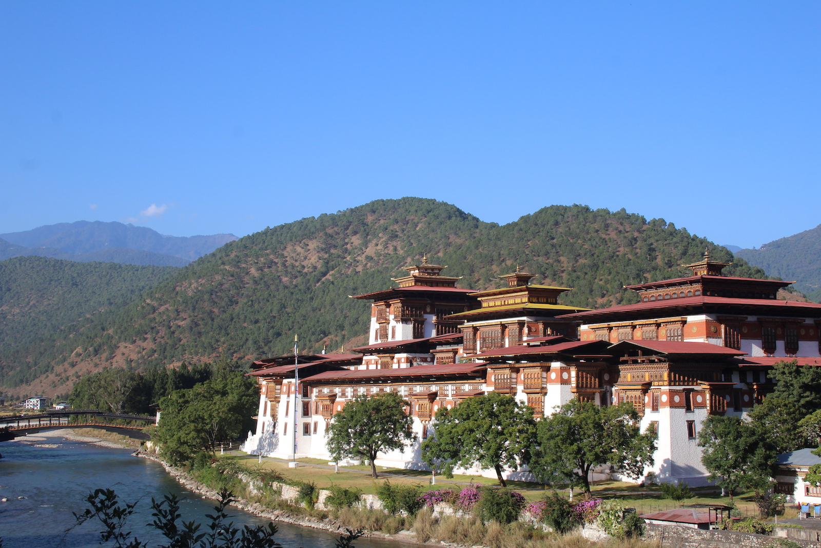 The Punakha Dzong in Punakha, Bhutan
