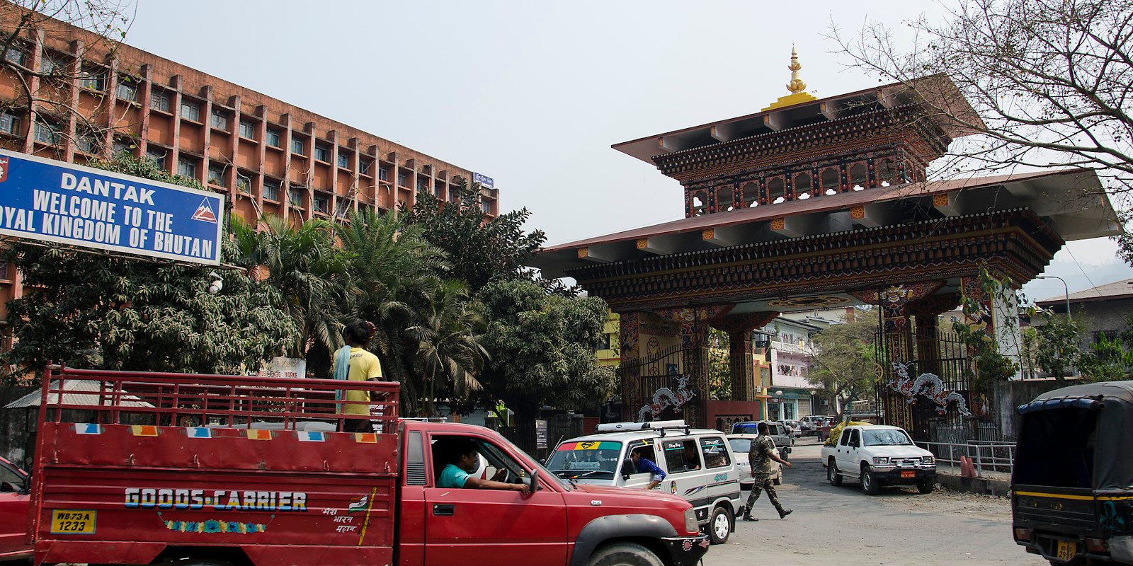 The Welcome Gate of Bhutan in Phuentsholing