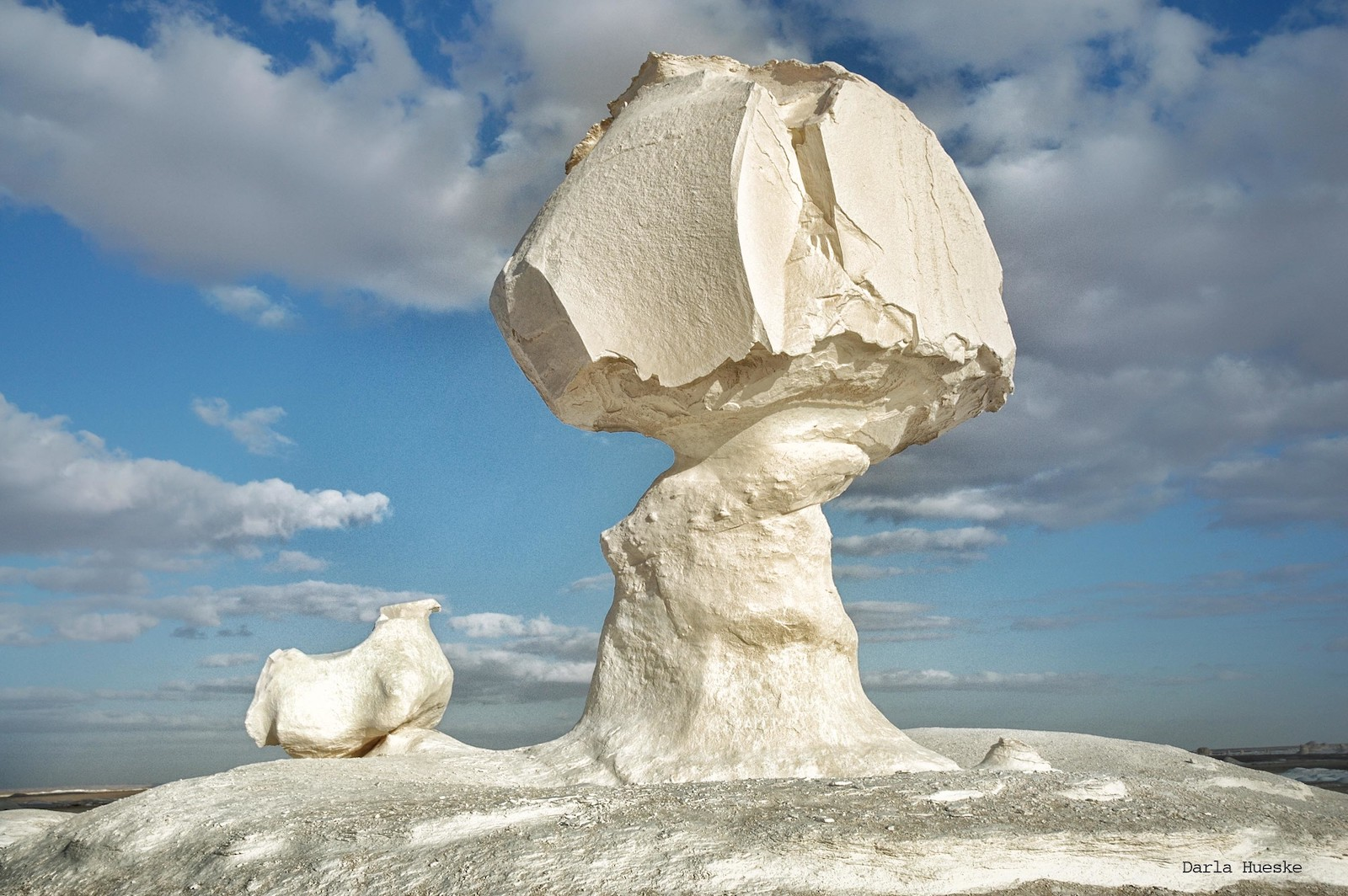 Chicken and Mushroom, White Desert, Egypt