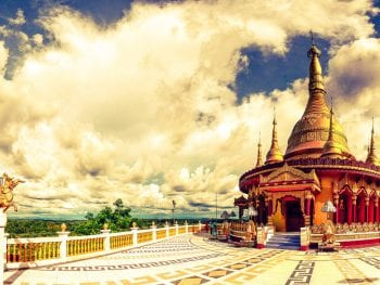 Golden Temple in Bandarban, Bangladesh