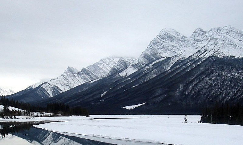 Spray Lakes Campground in Winter