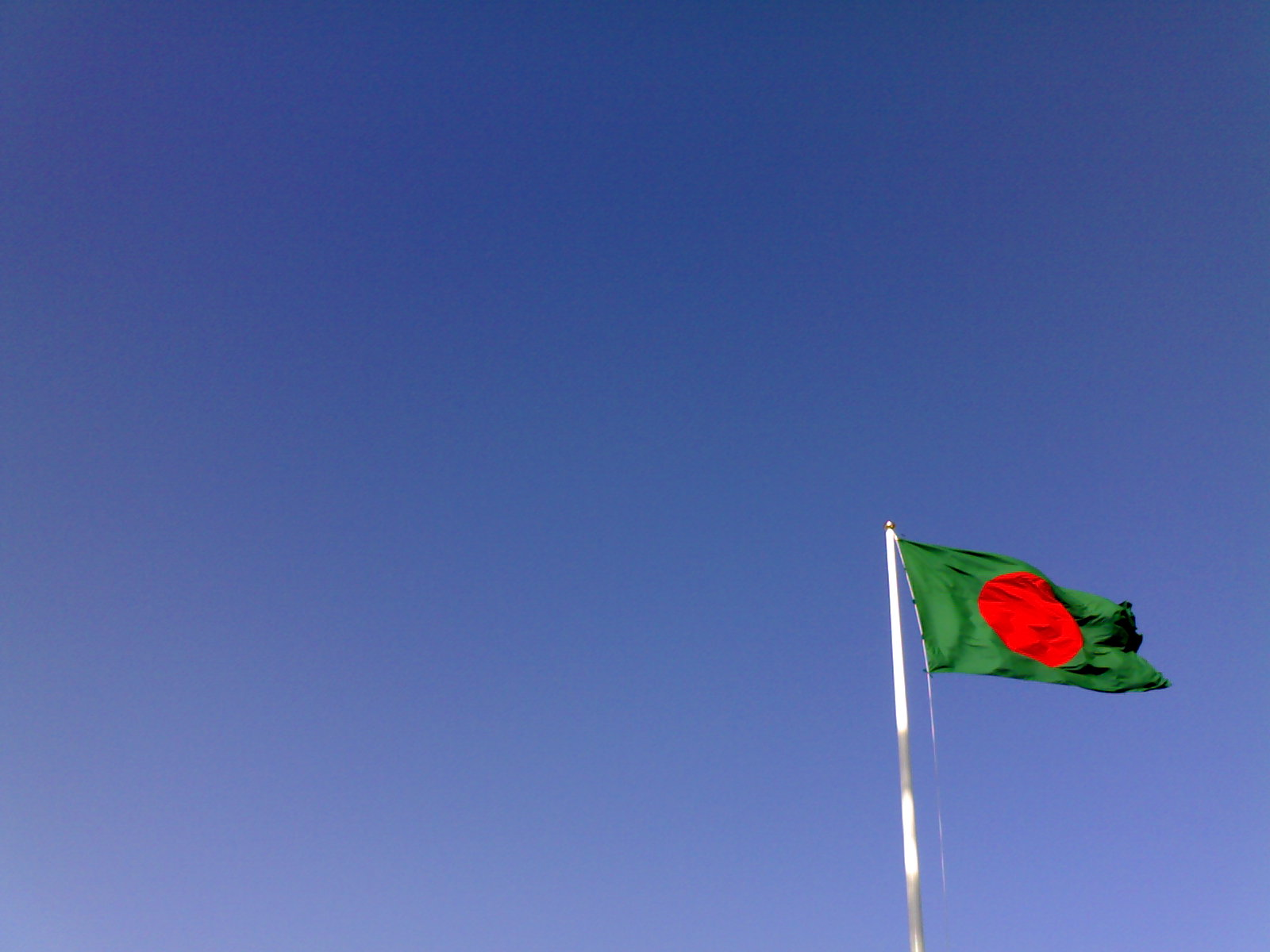 Flag of Bangladesh on a swedish sky