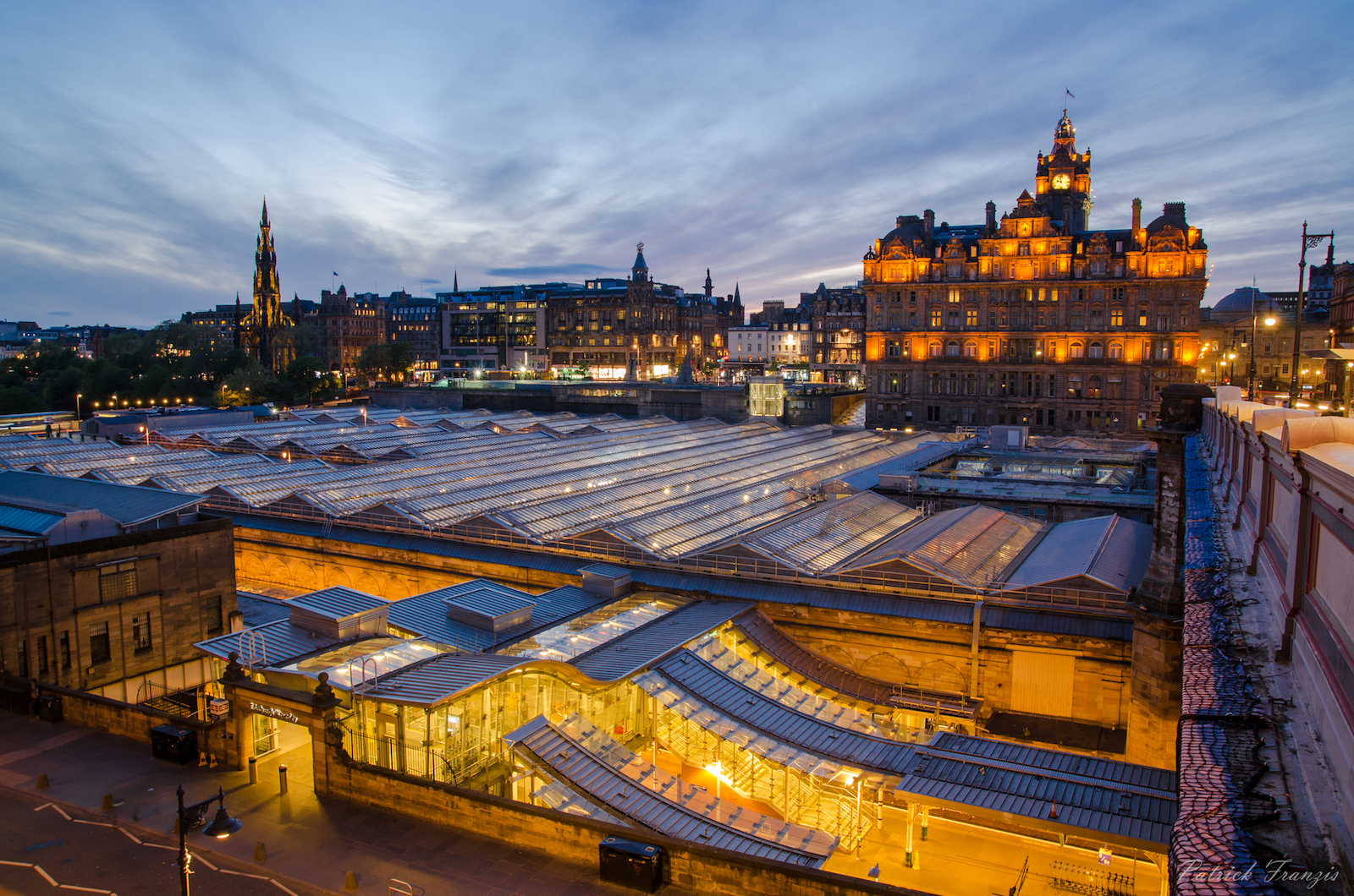 Balmoral Hotel and Waverly station in Edinburgh, Scotland