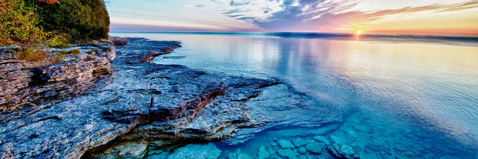 Door County Wisconsin Hiking Cave Point County Park Lake Michigan Sunrise