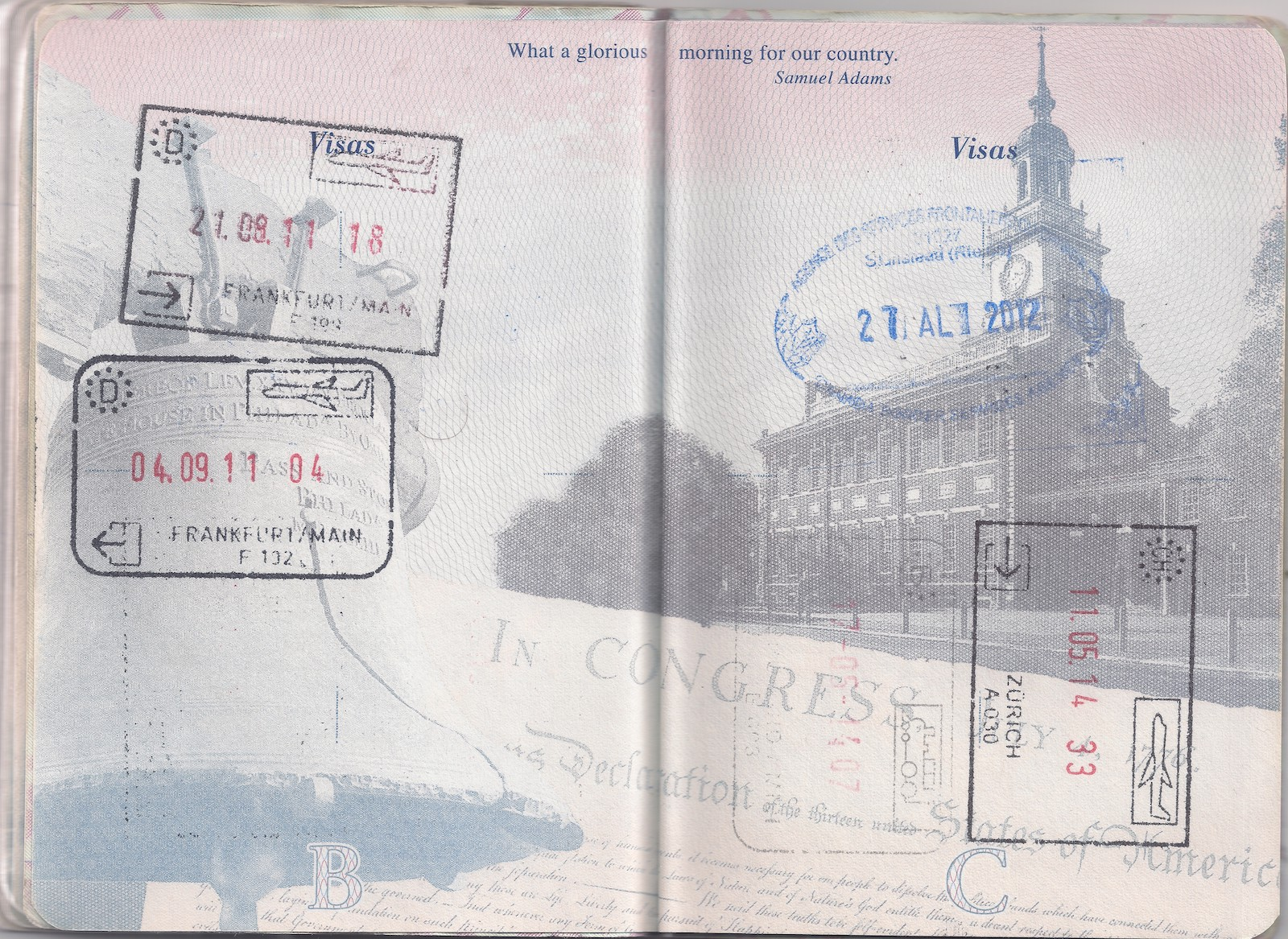 Switzerland passport stamp