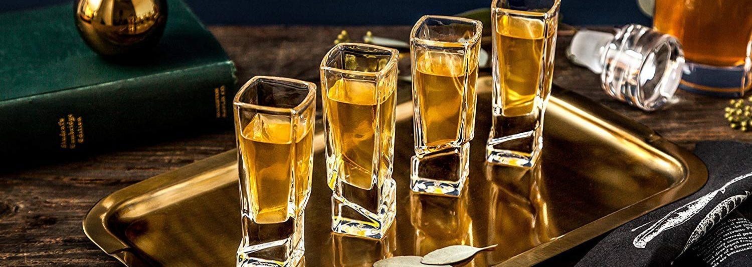 Best Shot Glasses To Buy JoyJolt Carre Square Shot Glasses