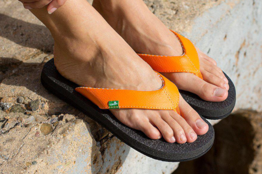 Best Women's Flip Flops Sanuk Orange Yoga Mat Flip Flop