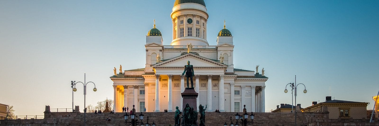The Cathedral at sunset in Helsinki, FInland