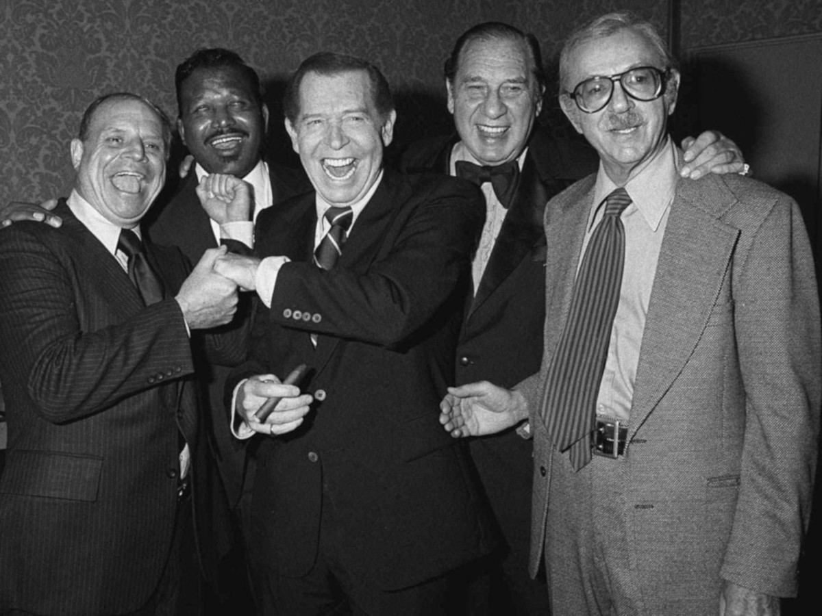Drinking Quotes Group Photo Don Rickles, Sugar Ray, Milton Berle, Henny Youngman and Jack Albertson 1978