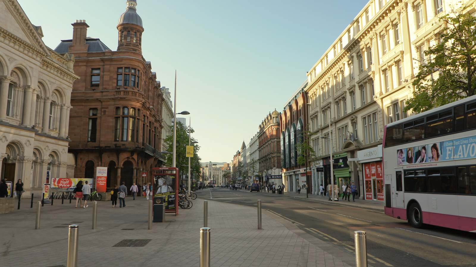 Royal Avenue in Belfast, Ireland