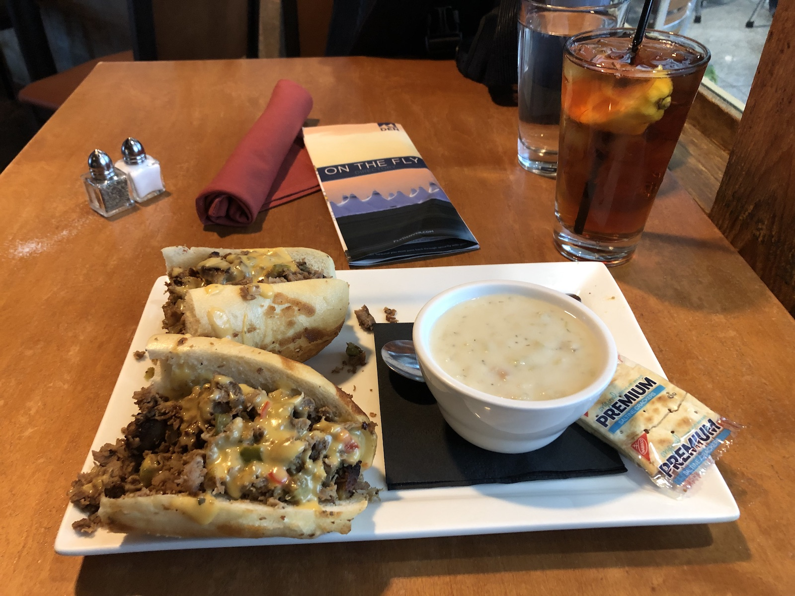 Denver Airport - Timberline Grill Food