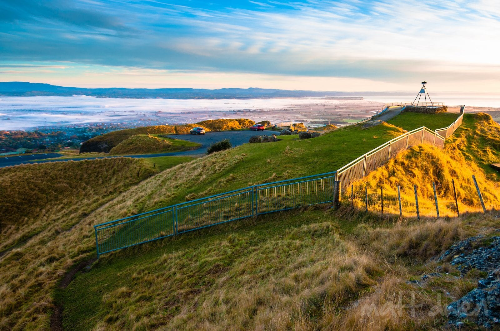 Sunrise at Te Mata Park, Hawke's Bay in New Zealand