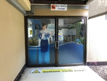 Entrance to Koh Samui Airport- Blue Ribbon Lounge, Thailand