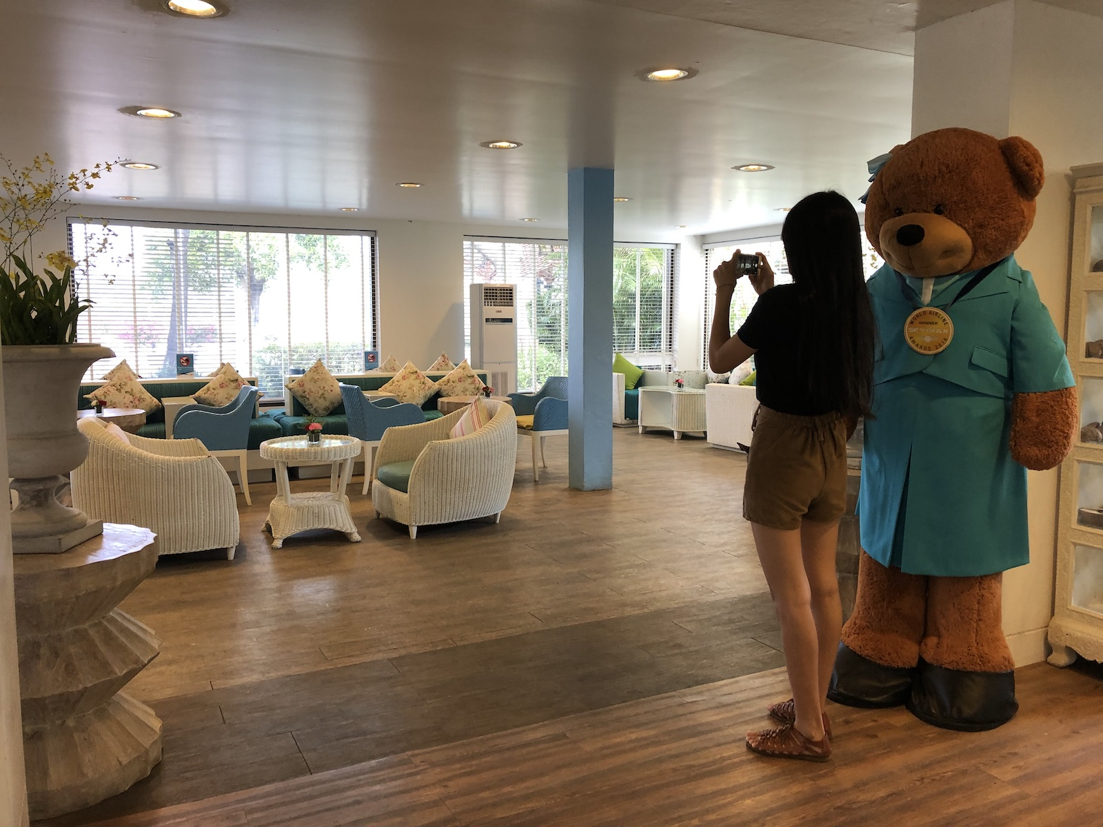 The Bear at Koh Samui Airport- Blue Ribbon Lounge, Thailand.