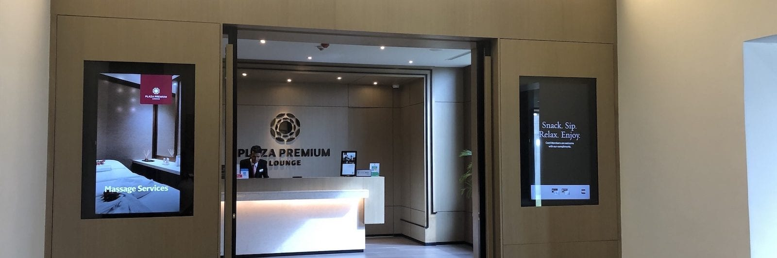 Entrance to Plaza Premium Lounge