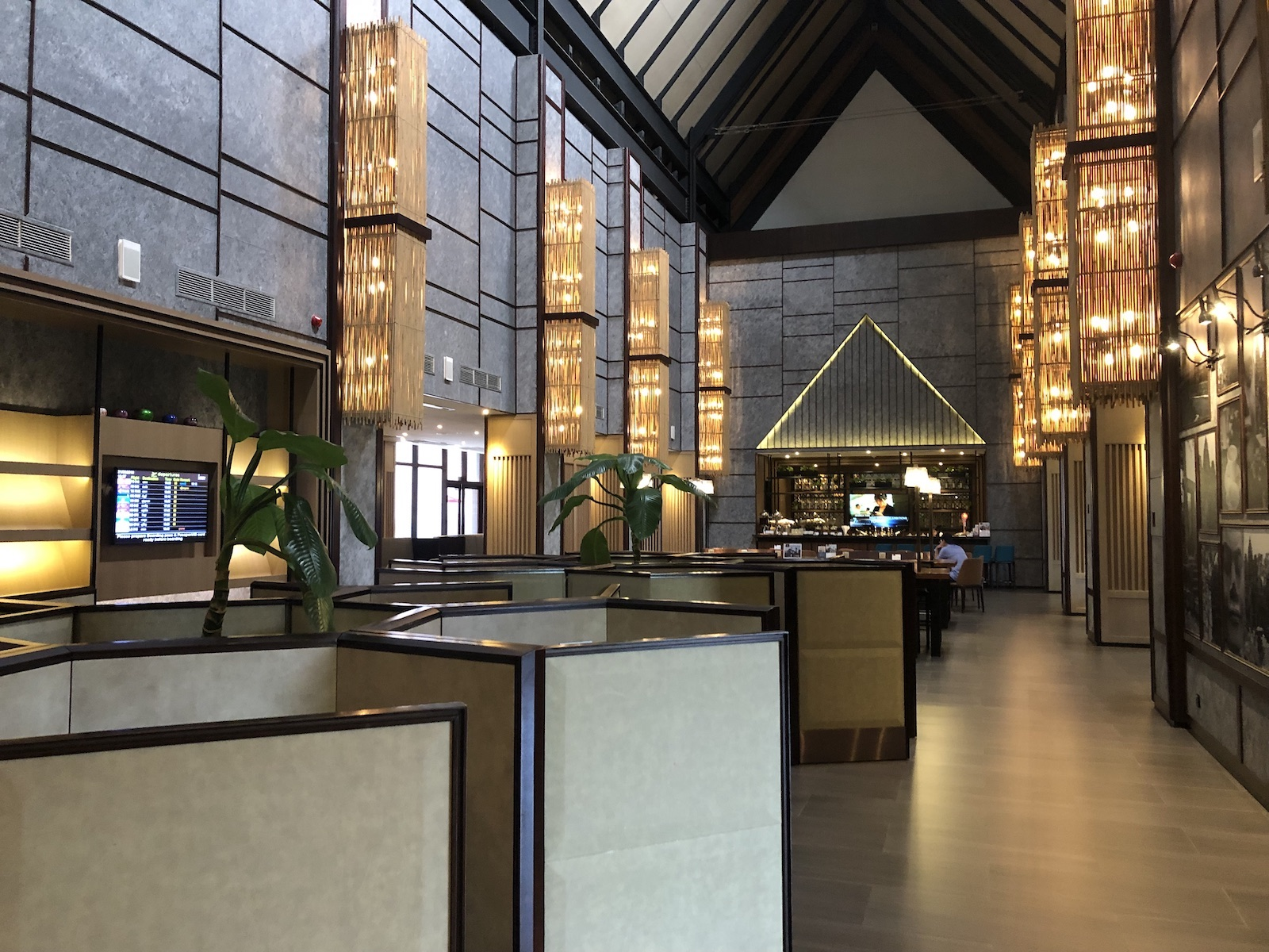 Interior of Siem Reap Airport Plaza Premium Lounge