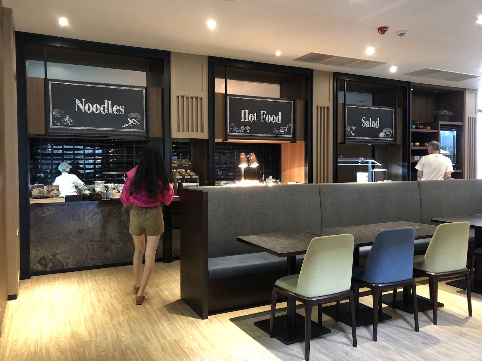 Dining choices at Siem Reap Airport Plaza Premium Lounge