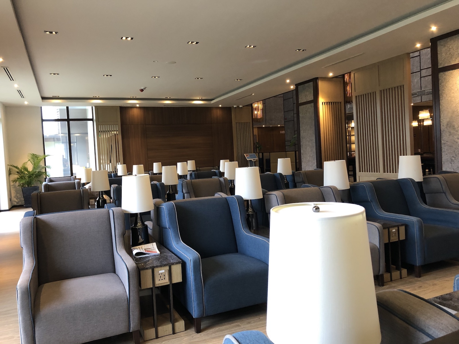 Seating area at Plaza Premium Loungex
