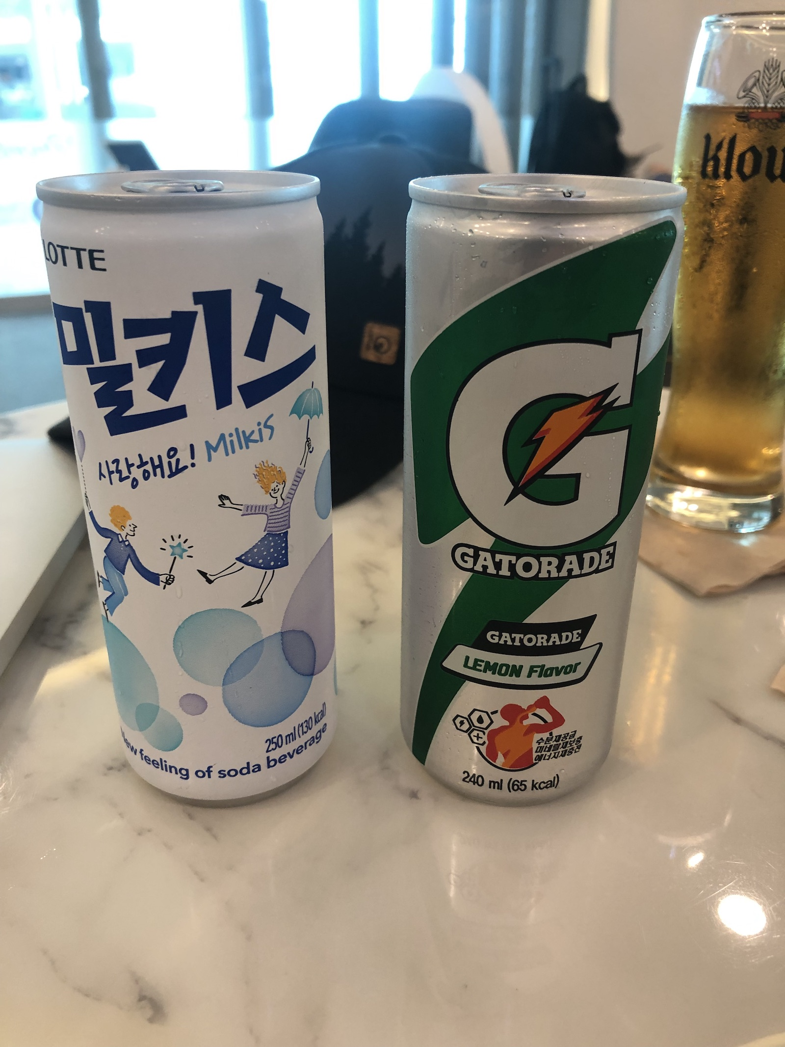 South Korea Seoul Airport - Lounge L Drinks