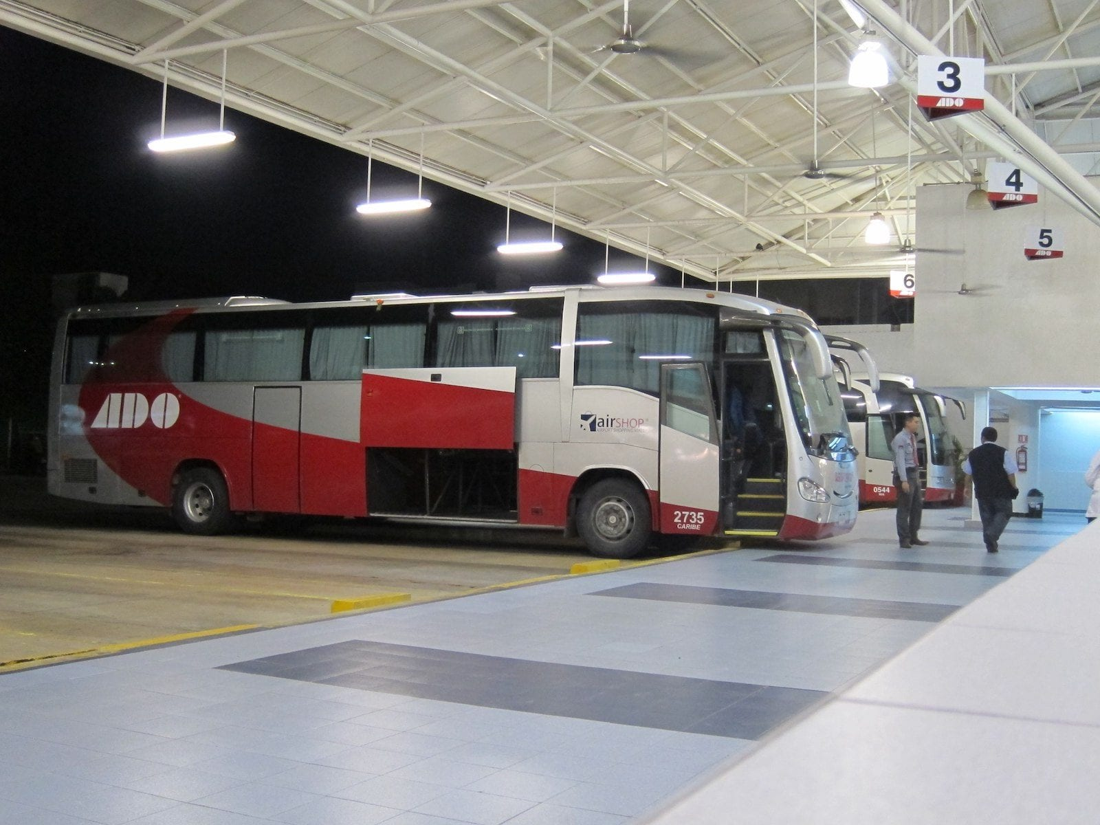 ADO run scheduled services, Mexico