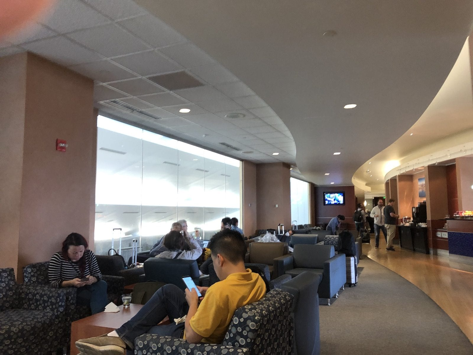 Interior of The Clud Sea Lounge, Seattle Airport