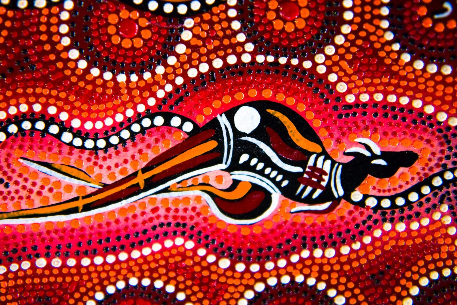 Colors taken from aboriginal products, Australia