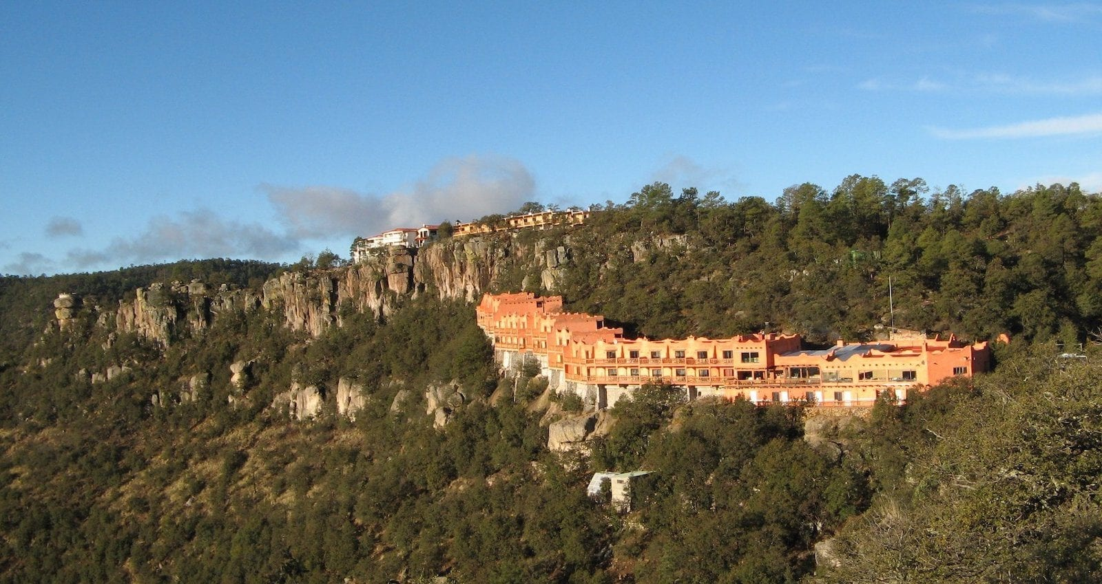 Posada Barrancas Mirador from canyon rim, Copper Canyon, Mexico